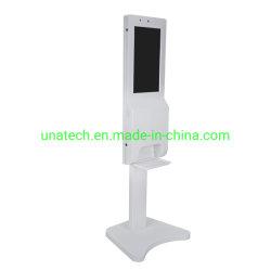An der Wand befestigt/Fußboden, der automatischen Handdesinfizierer-Zufuhr-DigitalSignage und Bildschirm LCD-Reklameanzeige-Spieler mit Fieber-Detektor steht