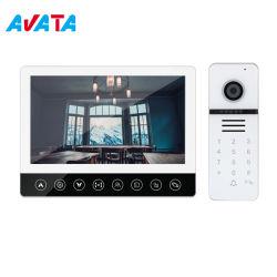 7 inch 4 Wire Villa Video Intercom deurbel camera Video Deurtelefoon werken met ID IC-kaart ontgrendelen