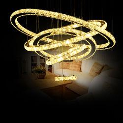 LED du plafond de verre en cristal de luxe moderne de la télécommande La télécommande d'hôtel Home Lustre