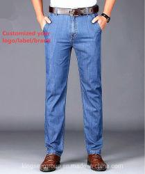 Gli uomini/ragazzo/all'ingrosso femminile/azione/abitudine all'ingrosso del Jean/hanno personalizzato la mutanda casuale scarna/jeans diritti del cotone del denim/stirata strappati di alta qualità di modo di affari