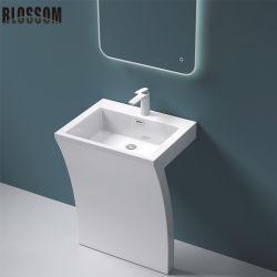 浴室の完全な軸受けの人工的な石造りの樹脂の洗面器