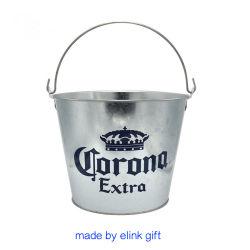 Logotipo personalizado de fábrica via sedex Corona embalagem de metal de qualidade Extra balde de gelo para a cerveja galvanizado