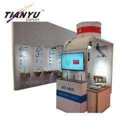 3X3 Suporte personalizado para as vendas de hardware Bacia Hand-Washing Cabine de visualização Modular de alumínio
