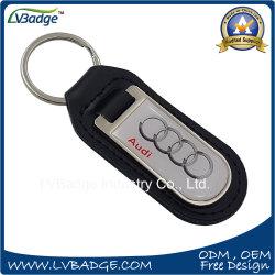 Logo de la marque de voiture en métal personnalisé trousseau de clés en cuir