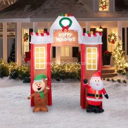 Publicidad Navidad Arco inflable Arco de Santa Santa Claus para Navidad