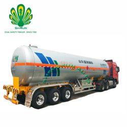 Fuente de la fábrica del eje 3 Gasolina Gas semi remolque cisterna camión GPL