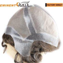 изготовленный на заказ<br/> человеческого волоса моно Wig мужчин