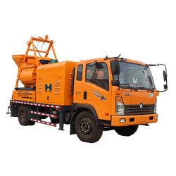 De nieuwe Vrachtwagen van het Type zette de Pomp van de Concrete Mixer met Diesel Elektrische Twee doelen dienend op