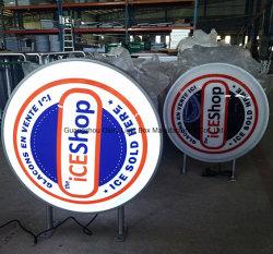 Адаптированные для использования вне помещений вакуумный акриловый светодиод светится рекламы системной платы