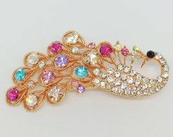 De veelkleurige Broche van de Juwelen van de Legering van de Manier van de Toebehoren van de Juwelen van het Bergkristal