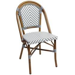 옥외 대중음식점에 의하여 길쌈되는 합성 등나무 의자