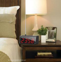 Bureau et table Radio AM/FM avec horloge et le plus grand écran LED numérique mots combinant avec double alarme et Snooze de charge de téléphone mobile