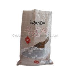 Venda por grosso de PP branco esvazie o saco de plástico de embalagem de açúcar 50kg