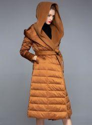 Novo Estilo Fashion mulheres longo inverno casaco para baixo