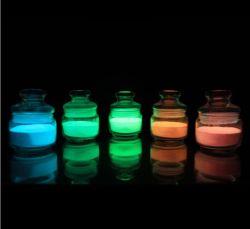 어두운 분말 빛난 안료 찬빛 물질에 있는 놀
