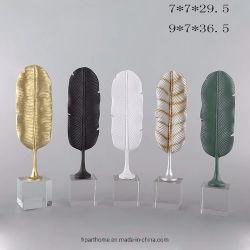 La resina de la India Banana Leaf Decoracion accesorios con la base de cristal