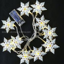 Festival personnalisée produits LED flocon de neige des feux de chaîne pour Noël