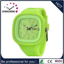 공장은 주문을 받아서 만들었다 석영 묵 실리콘 팔찌 시계 (DC-1315)를
