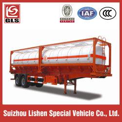 화학 액체 탱크 용기 부식성 탱커 운반 20cbm 세미 트레일러