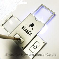 Comercio al por mayor de la tarjeta de lupa con luz LED para la lectura (HW-212N)