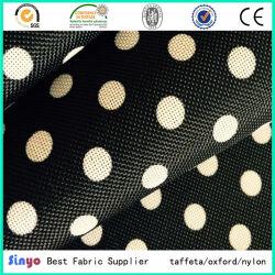 Barato Círculo de poliéster 600d DOT tecido impresso com revestimento de PVC para sacos de mochila