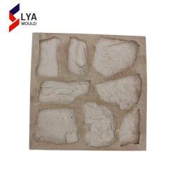 Les panneaux muraux en pierre artificielle en caoutchouc de silicone finisseur moule en plastique