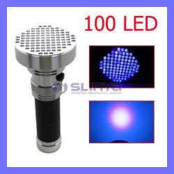 알루미늄 395 400nm 100 LED UV Ink Blacklight Ultraviolet Torch Pet Dog Urine Detector Money Checker UV Flashlight (LED100)