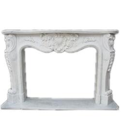 Hoch weißer Marmorsteinkamin-Polierkaminsims für Haus-Dekoration