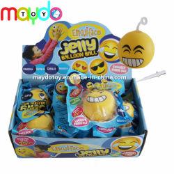 Commerce de gros de TPR gonflable gelée Emoji Balloon Ball jouet