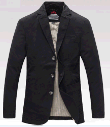 OEM Wholesales новейшей конструкции мужчин осенью бизнес-повседневный открытый вымыта хлопок пиджак