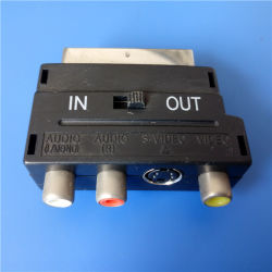 21 Pins to 3RCA with Switch Scart Plug (SP-018)