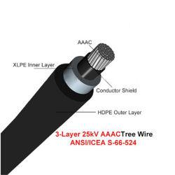 오버헤드 AAC AAAC ACSR XLPE 절연 전원 케이블 15kv 25kv 35kv HDPE Sheath 안테나 트리 와이어