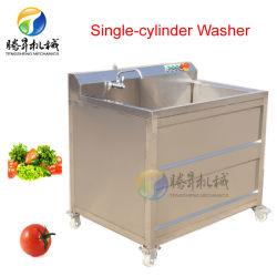 Frutas e Produtos Hortícolas Single-Cylinder Ozono Bolha máquina de lavar a máquina de limpeza Data Vermelho (TS-AZ)