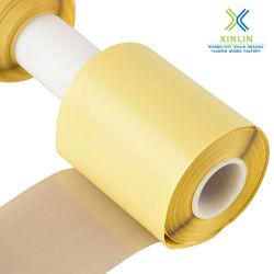 En fibre de verre recouvert de PTFE résistant à la chaleur en fibre de verre de bandes de ruban adhésif
