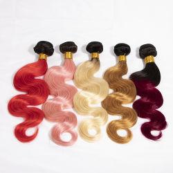 Cutícula de Cor Personalizado alinhadas encaixar no cabelo Ombre Lace Clip em extensões de cabelo