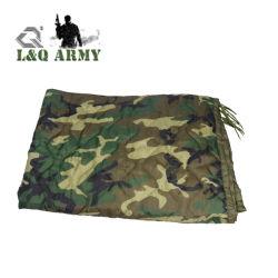 Poncho Liner de style militaire Blanket Woodland Camo Woobie bébé les chemises sans MOQ