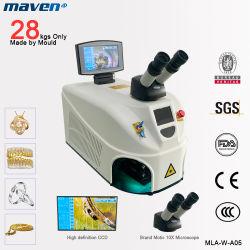 200W Portable ND YAG microscópio CCD Mini Laser de jóias de soldar por pontos de ouro a cadeia de prata Dental soldar aço Metal China Equipamento de Soldadura