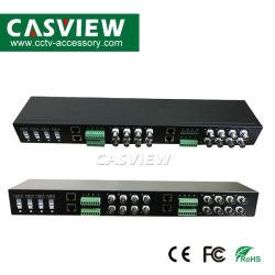16CH Balun vidéo UTP passive pour Ahd ICB Tvi caméra CCTV de montage en rack Transciver vidéo 1080p RJ45