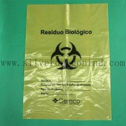 Sac à déchets médicaux avec logo biochimiques, sac Biohazard