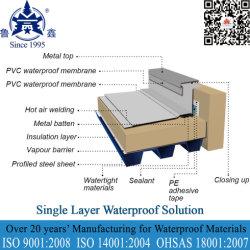 Toit en Acier membrane imperméable en PVC