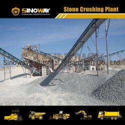 Capacité de 100 tonnes agrégat usine de broyage de Pierre, usine de concasseur de roche
