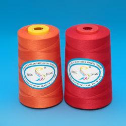 20/2 20/3 30S/2 30/3 40/2 40/3 50/2 50/3... 5000m/Cone 3000m/Cone branco ou colorido do uso da máquina de fábrica 100% de fibras de poliéster bonderizado