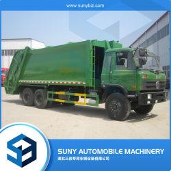 16-18cbm中国の頑丈で特別なコンパクターの屑のトラック210HP Dongfeng 6*4の圧縮されたごみ収集車