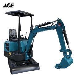굴착용 다기능 유압 크롤러 견인 가능한 백호 미니 굴삭기 기본 장착