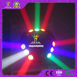Discoteca RGBW etapa 9X10W moviendo la cabeza haz de luz LED DMX Araña