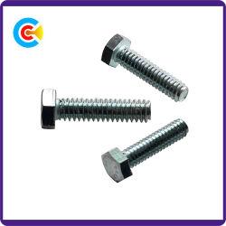 DIN/ANSI/BS/JIS Kohlenstoffstahl/aus rostfreiem Stahl galvanisierte Hexagon-Schrauben für Gebäude und Brücke