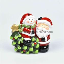 Целом продажа керамических дерево Санта и снежную бабу подарок на Рождество дома оформление