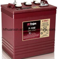 pièces de rechange du transpalette Trojan T105 de la batterie 6V 225A avec un bon prix