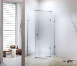 Безрамные двери стекло к стене латунные петли душ,