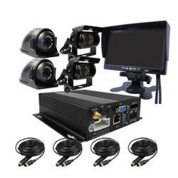 4 canaux 720p 1.0MP Mdvr Mobile de voiture GPS DVR enregistreur vidéo Enregistrement en temps réel ips VGA 7 pouces Ahd voiture caméra pour les bus de l'écran / camion / Taxi / Véhicules